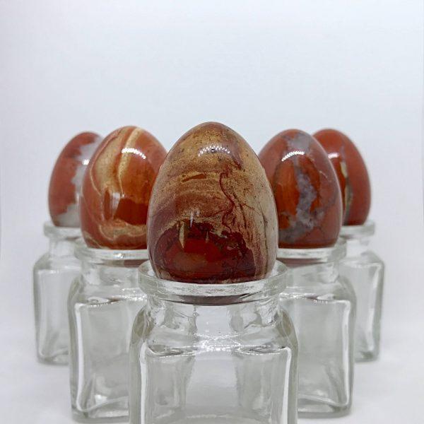 5 Med. Red Jasper Yoni Eggs