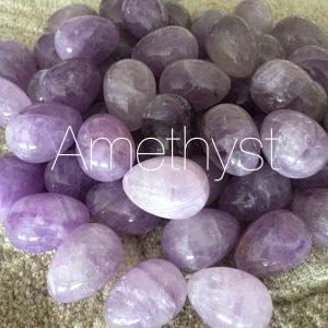 5 Medium Amethyst Yoni Eggs
