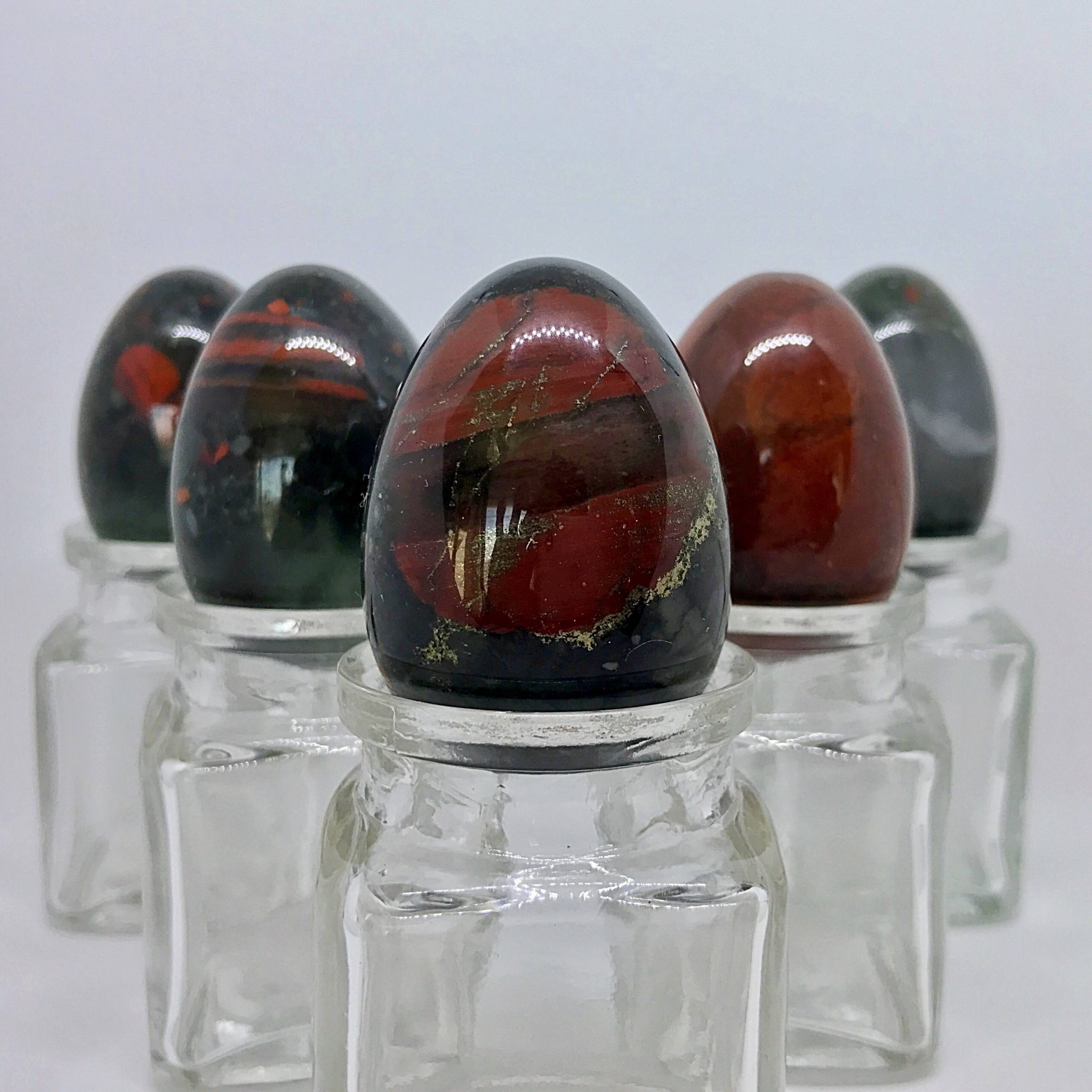 5 Medium Bloodstone Yoni Eggs