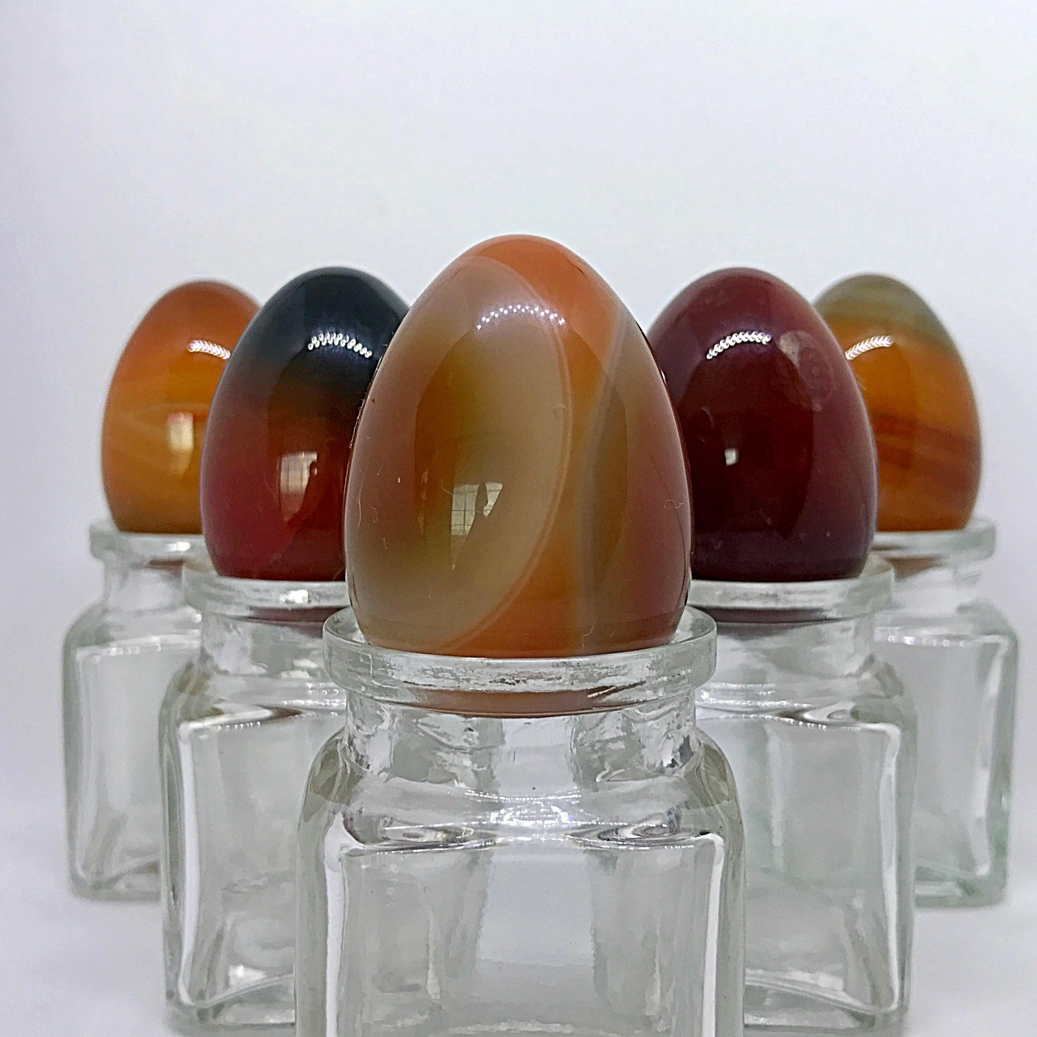 5 Medium Carnelian Yoni Eggs