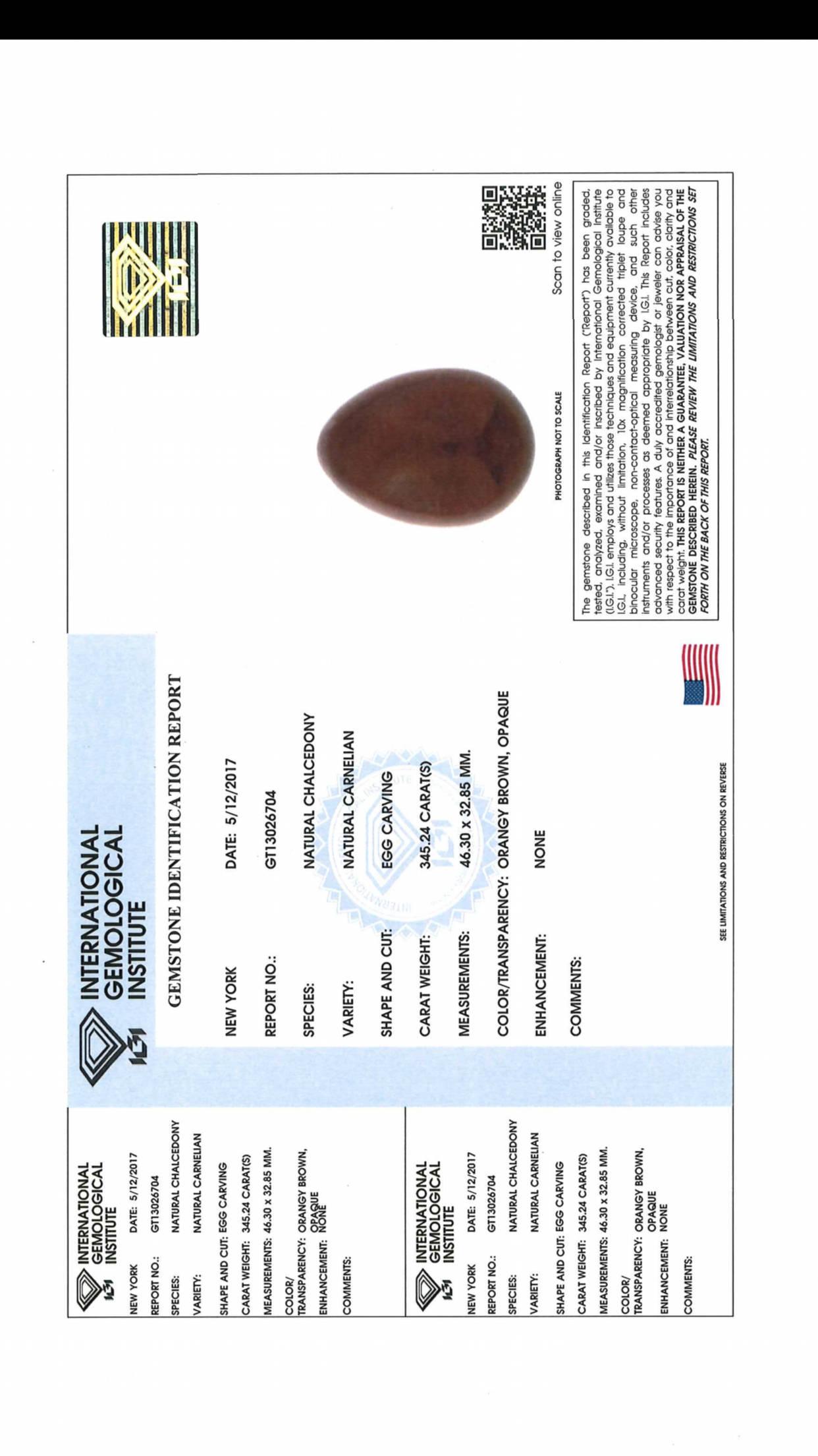 5 Medium Carnelian Yoni Eggs