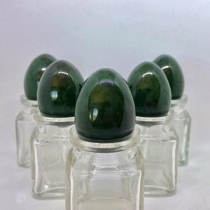 5 medium Nephrite Jade Yoni Eggs