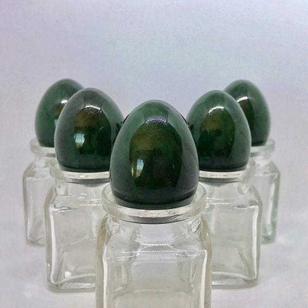 5 medium Nephrite Jade Yoni Eggs