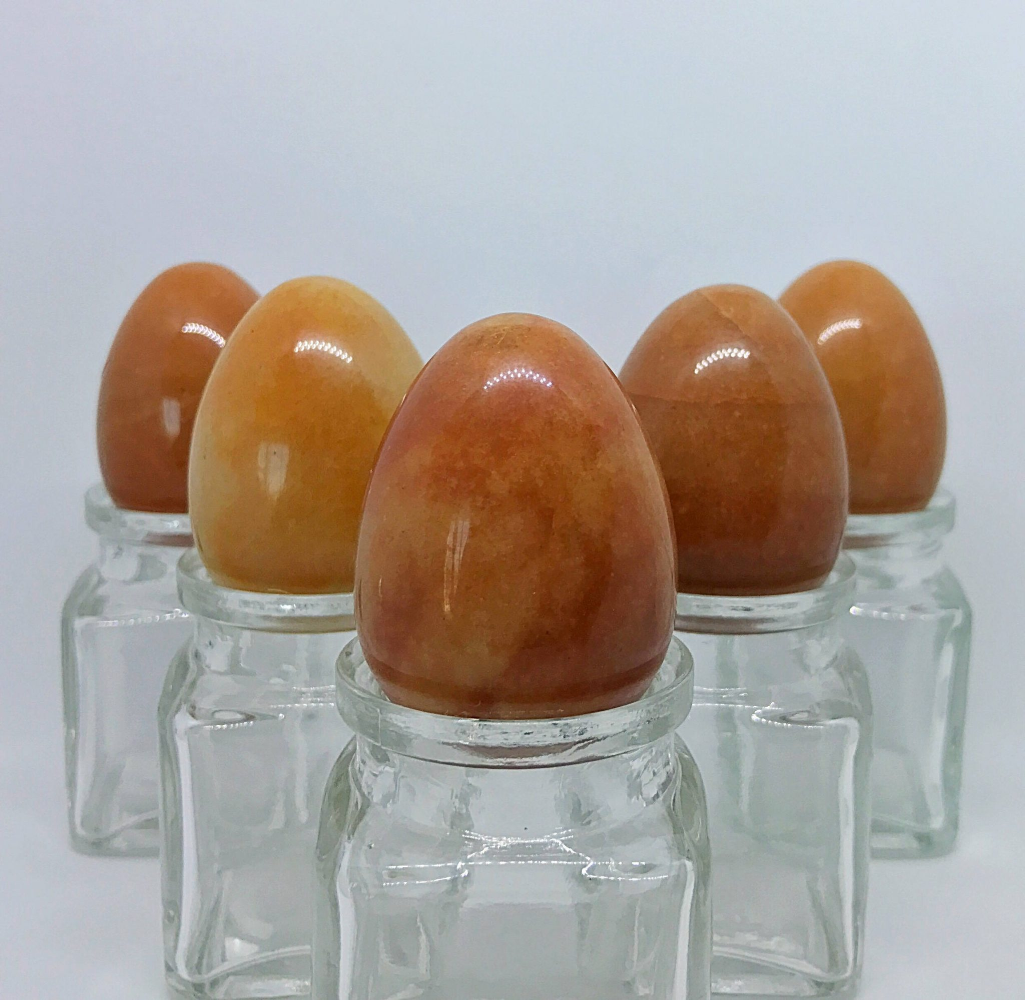 5 Medium Red Aventurine Yoni Eggs