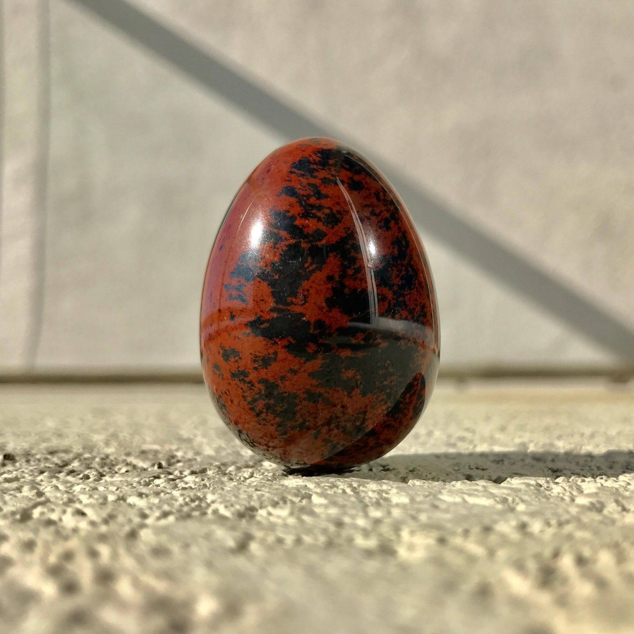 70% OFF Non-drilled Mahogany Jasper Yoni Egg